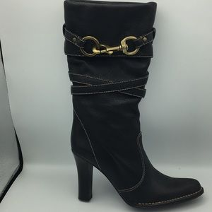 Coach leather slouch boot 8.5